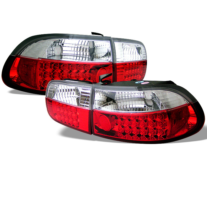 SPYDER AUTO Honda Civic 92 95 2 4DR LED Tail Lights Red Clear
